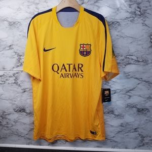 Nike FC Barcelona Mens Training Soccer Jersey New